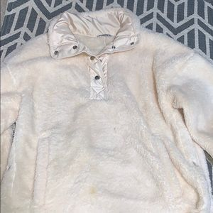 Sherpa button up pullover